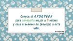 Conoce el AYURVEDA