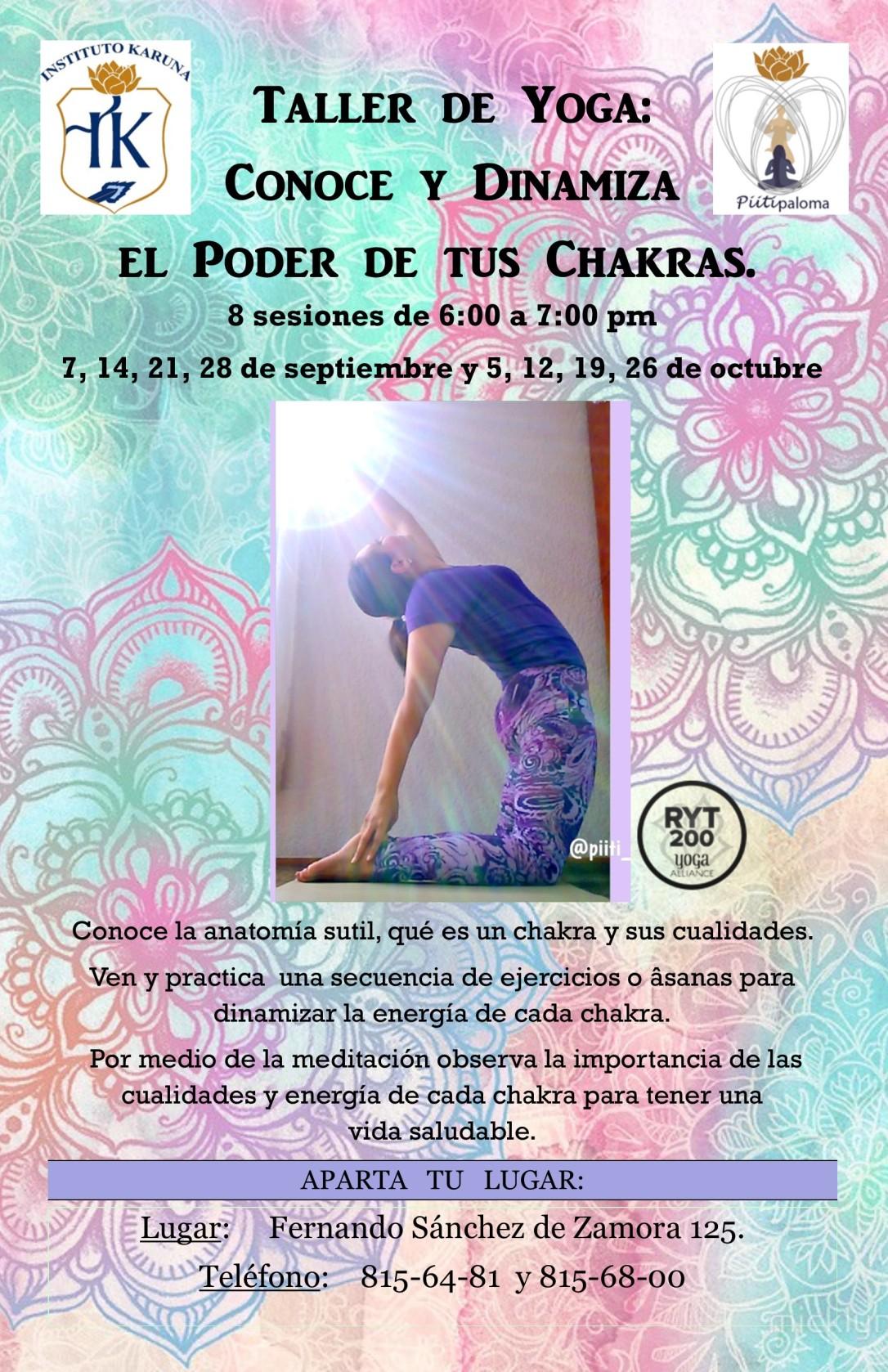 Taller de Yoga: conoce y dinamiza el poder de tus chakras – Yoga y ...